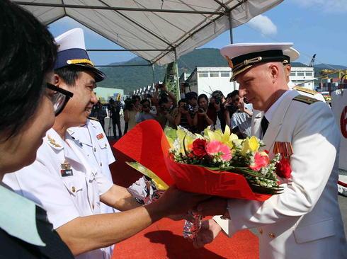 بازدید چهار روزه ناوگان نیروی دریایی روسیه از بندر دانانگ ویتنام