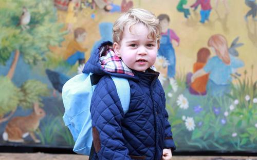 نخستین روز مهد کودک پرنس جورج نتیجه ملکه بریتانیا