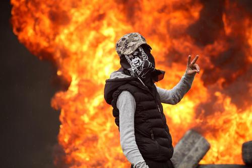 تظاهرات ضد اسراییلی جوانان فلسطینی – نابلس