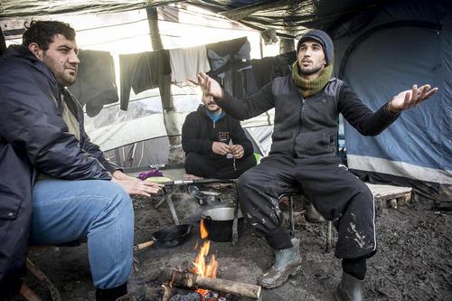 پناهجویان سوری در دانکرک فرانسه