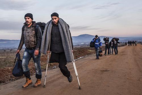پناهجویان خاورمیانه ای در مرز صربستان و مقدونیه