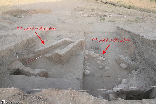 بقایای معماری دوره مس و سنگ میانه