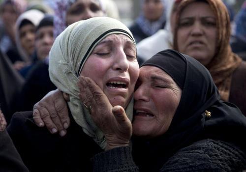 مراسم تشییع چهار جوان فلسطینی