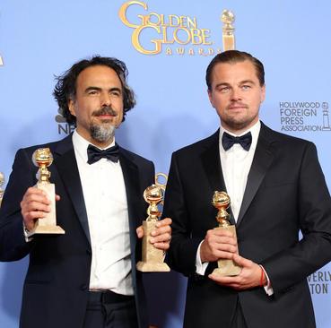 لئوناردو دی کاپریو در مراسم سالانه جوایز سینمایی گولدن گلوب در کالیفرنیا