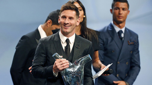 مسی بهترین بازیکن فصل اروپا