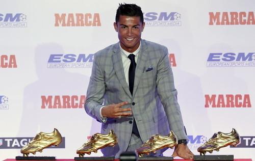 رونالدو برنده کفش طلا فصل