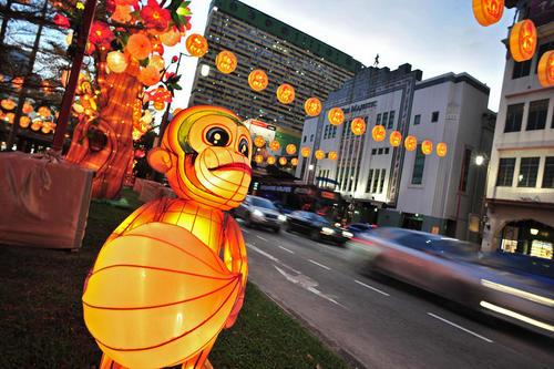 چراغانی و تزیین شهر سنگاپور به مناسبت فرا رسیدن سال نوی چینی