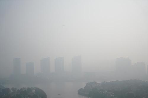 آلودگی هوای شهر نانجینگ چین