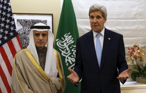 دیدار وزرای امور خارجه آمریکا و عربستان در لندن