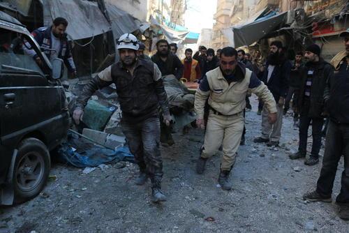 حمله هوایی به شمال شهر حلب سوریه