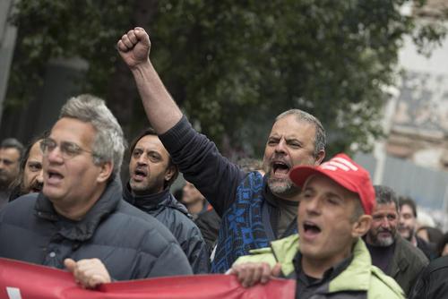 تظاهرات علیه اصلاح سیاست های رفاه اجتماعی در آتن یونان