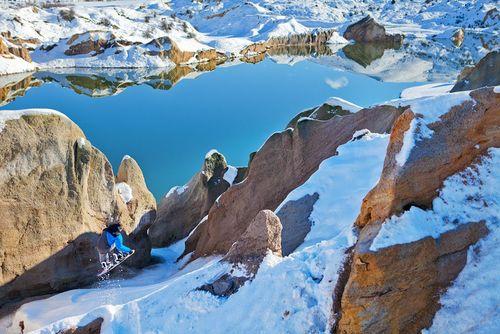 اسنوبورد در کوه های نیوزیلند