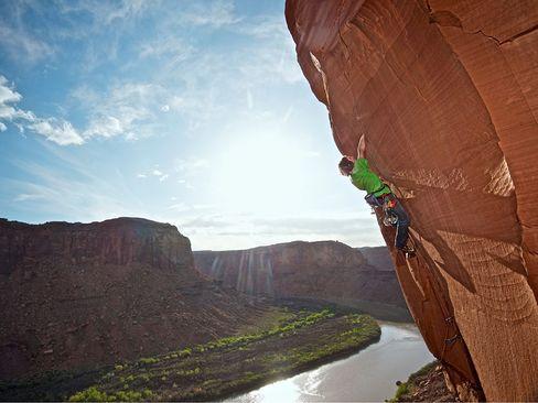 صعود مسیرهای جدید در امتداد رودخانه سبز- ایالت یوتا
