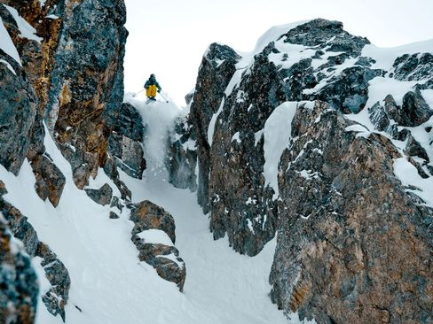 اسکی در کوه های بریتیش کلمبیا - کانادا