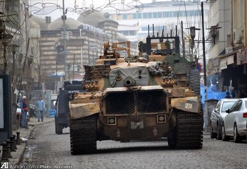 جولان تانک در منطقه سور در شهر دیاربکر ترکیه
