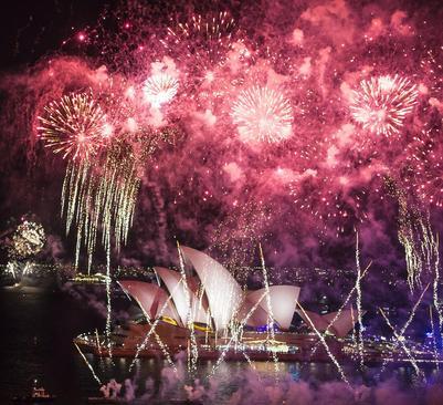 نور افشانی به مناسبت روز ملی استرالیا – سیدنی