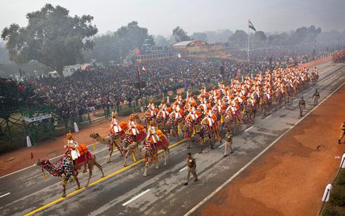 رژه سالانه روز جمهوری هند در شهر دهلی نو
