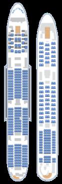 چیدمان صندلیها در هر دو طبقه A380