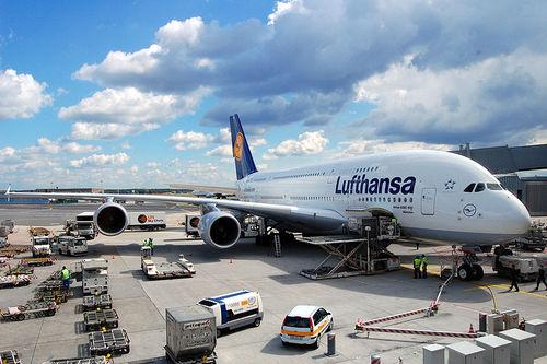 هواپیمای A380 شرکت لوفت هانزای آلمان