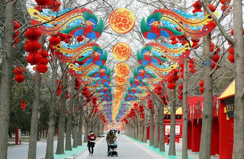 تزیین و چراغانی شهر پکن به مناسبت سال نو چینی