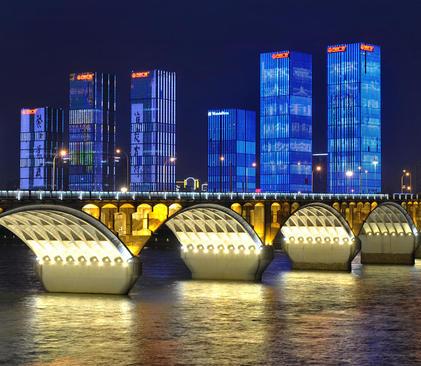 نورآمیزی شهر چانگشا در چین به مناسبت سال نو چینی