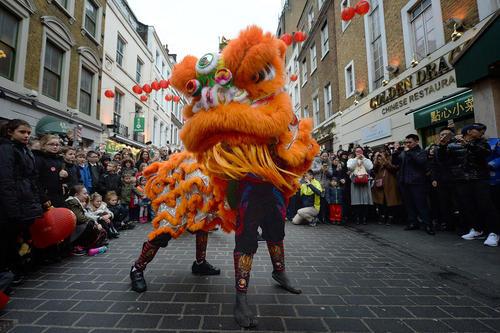 جشن سال نو چینی در محله چینی ها در لندن