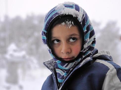 پناهجو خاورمیانه ای در کمپ پناهجویان در نروژ