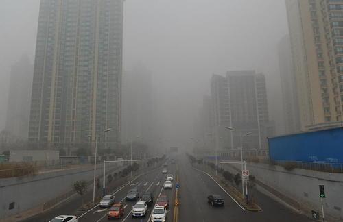 آلودگی شهر مرکزی استان هِبِی چین