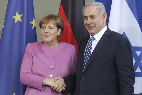 دیدار نتانیاهو و مرکل در برلین