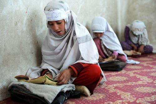 کلاس آموزش قرآن در قندهار افغانستان