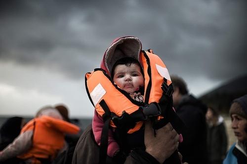 ورود پناهجویان خاورمیانه ای به جزیره لسبوس یونان
