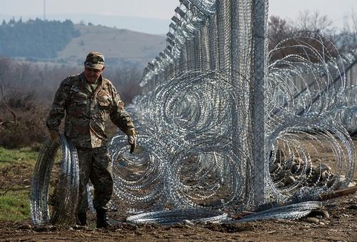 ایجاد موانع جدید مرزی از سوی مقدونیه در مرز با یونان
