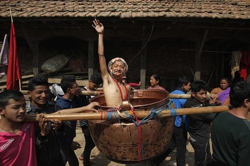 جشنواره آیینی براتا کاتا در لالیتپور نپال