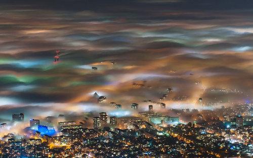مه شدید در شهر صوفیه بلغارستان