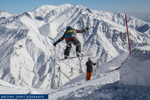 مردم می توانند برای تفریح و  ورزش های های زمستانی به کوه های شمال تهران سفر کنند