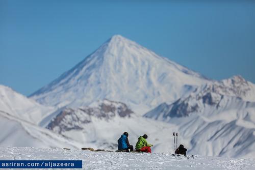 نمایی از کوه دماوند