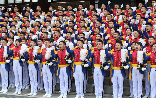 مراسم افتتاحیه آکادمی علوم نظامی کره جنوبی در سئول