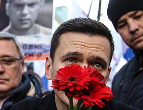 مراسم نخستین سالگرد ترور بوریس نمتسوف سیاستمدار مخالف پوتین در مسکو