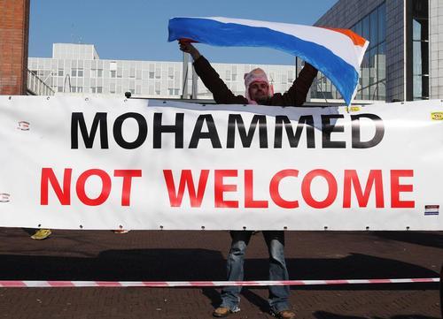 برگزاری تظاهرات گروه های راستگرای ضد مهاجرت مسلمانان در شهر آمستردام هلند