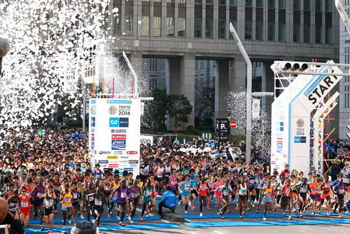 مسابقه دو ماراتن سالانه در شهر توکیو ژاپن