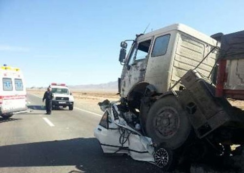 عکس تصادف مرگبار عکس تصادف دلخراش تصادف پراید اخبار طبس اخبار تصادف