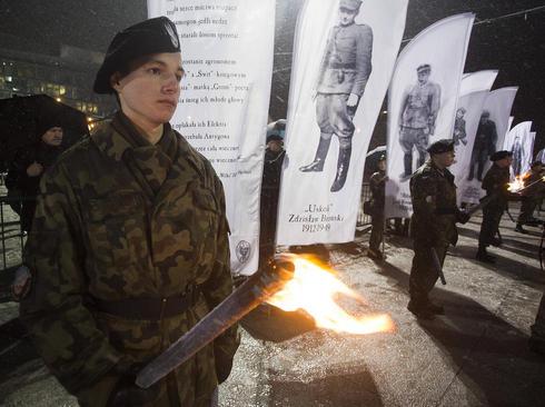 مراسم گرامی داشت چریک های ضد کمونیست کشته شده در دوران جنگ سرد در ورشو لهستان