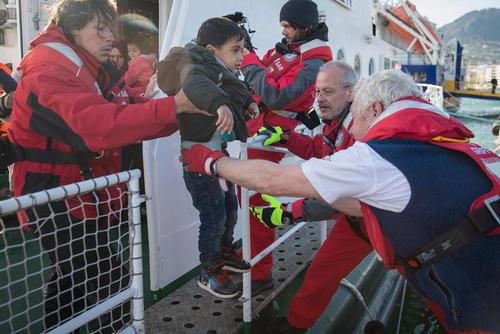 رسیدن پناهجویان خاورمیانه ای به یونان