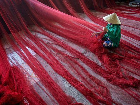 ترمیم تور ماهیگیری – ویتنام