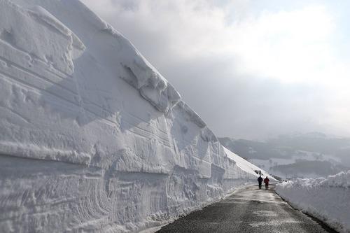 بارش سنگین برف در ارتفاعات اسپانیا