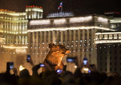 مراسم جشن پایان زمستان در شهر مسکو