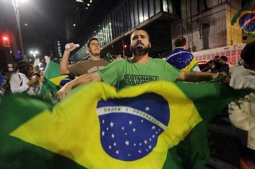 تظاهرات ضد دولتی در شهر سائوپائولو برزیل