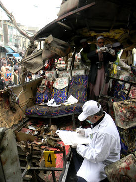انفجار تروریستی در یک اتوبوس درشهر پیشاور