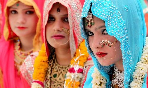 جشن عروسی دسته جمعی مسلمانان در بوپال هند