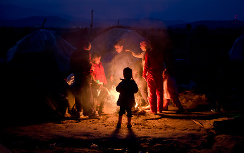 پناهجویان در مرز مقدونیه و یونان
